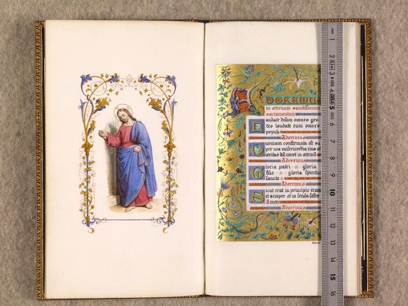 CHANTILLY, Bibliothèque du château, 0116 (1396), f. 000Bv - 001 avec réglet