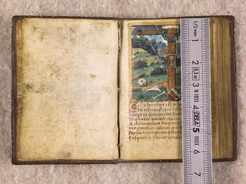 CHANTILLY, Bibliothèque du château, 0155 (1606), contregarde - f. 001 avec réglet