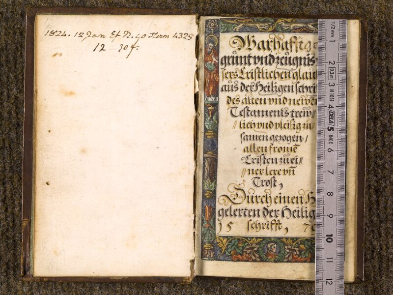 CHANTILLY, Bibliothèque du château, 0163 (1433), f. 000Dv - 001 avec réglet