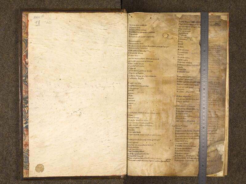 CHANTILLY, Bibliothèque du château, 0243 (0406), contregarde - f. 000A avec réglet