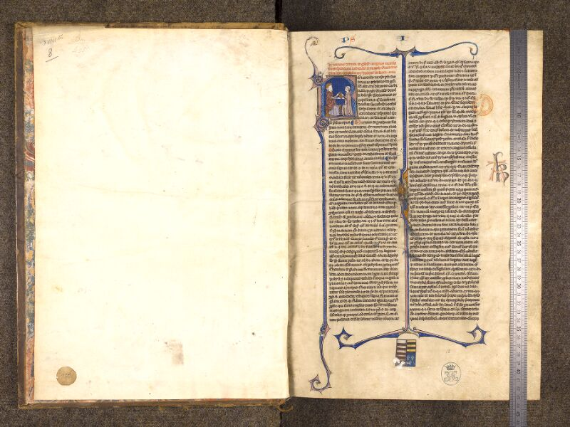 CHANTILLY, Bibliothèque du château, 0244 (0405), contregarde - f. 001 avec réglet
