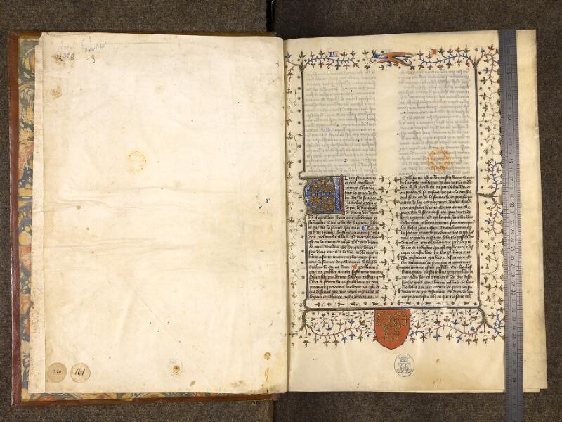 CHANTILLY, Bibliothèque du château, 0279 (0320), contregarde - f. 001 avec réglet