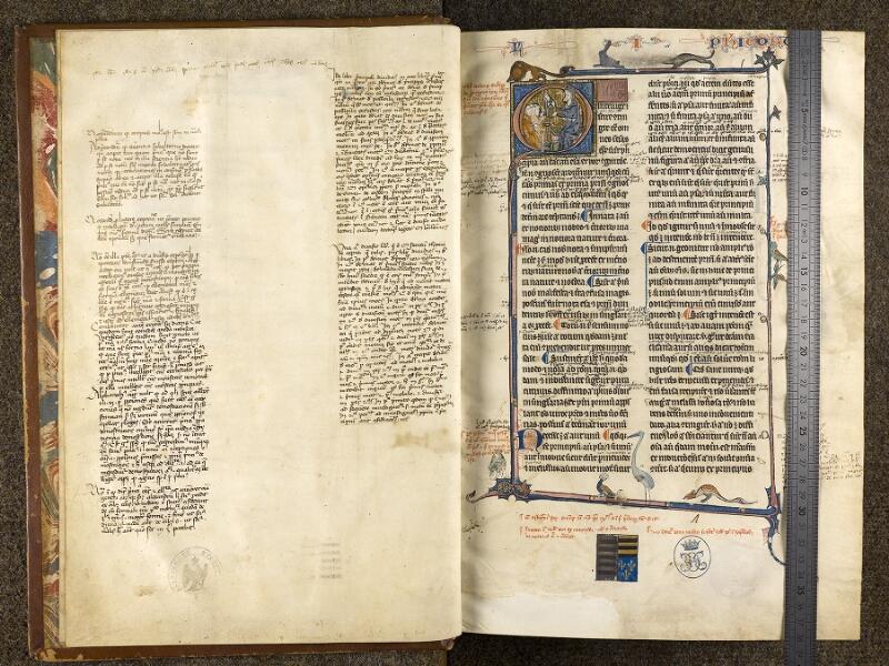 CHANTILLY, Bibliothèque du château, 0280 (1051), f. 000Bv - 001 avec réglet