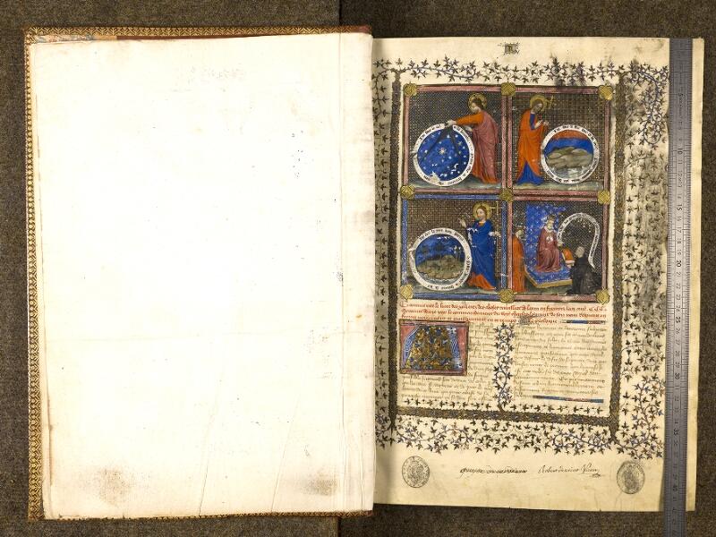 CHANTILLY, Bibliothèque du château, 0339 (1223), f. 000Cv - 001 avec réglet