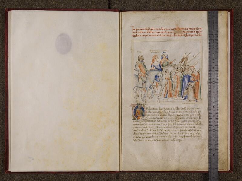 CHANTILLY, Bibliothèque du château, 0599 (1426), contregarde - f. 001 avec réglet