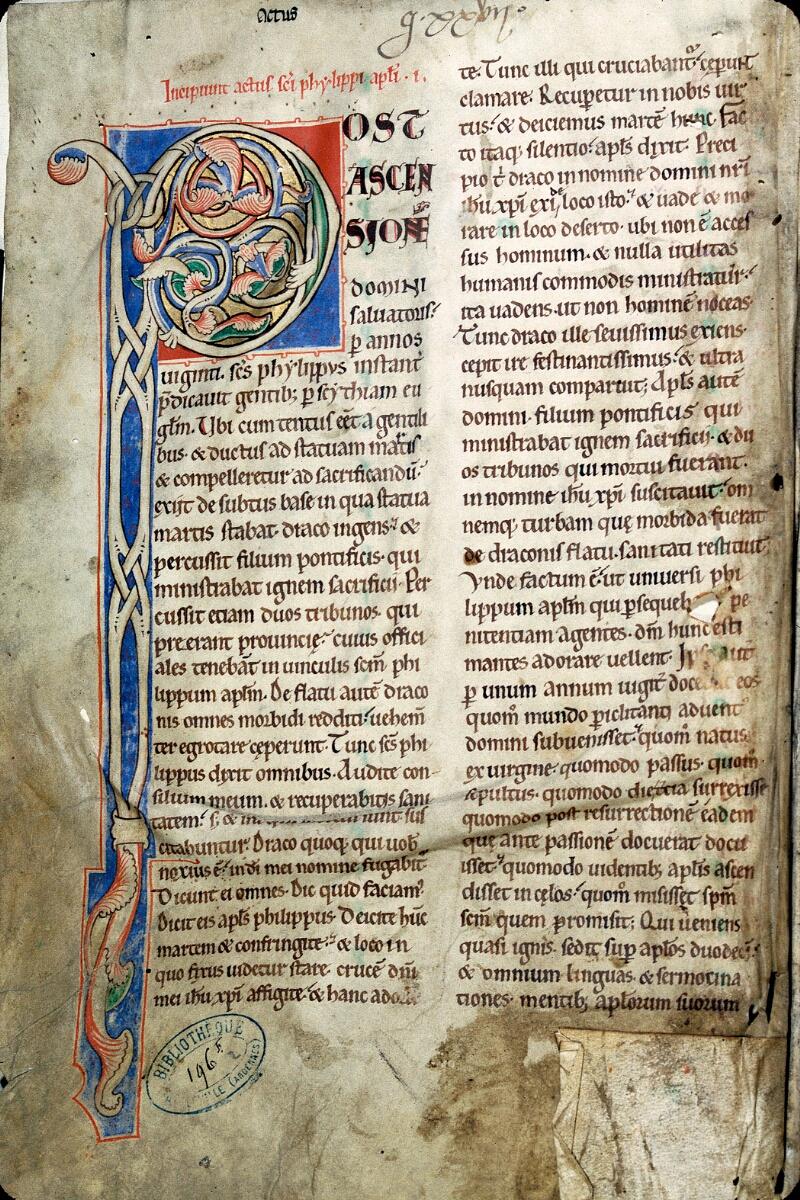 Charleville-Mézières, Bibl. mun., ms. 0196 F, t. II, f. 001v