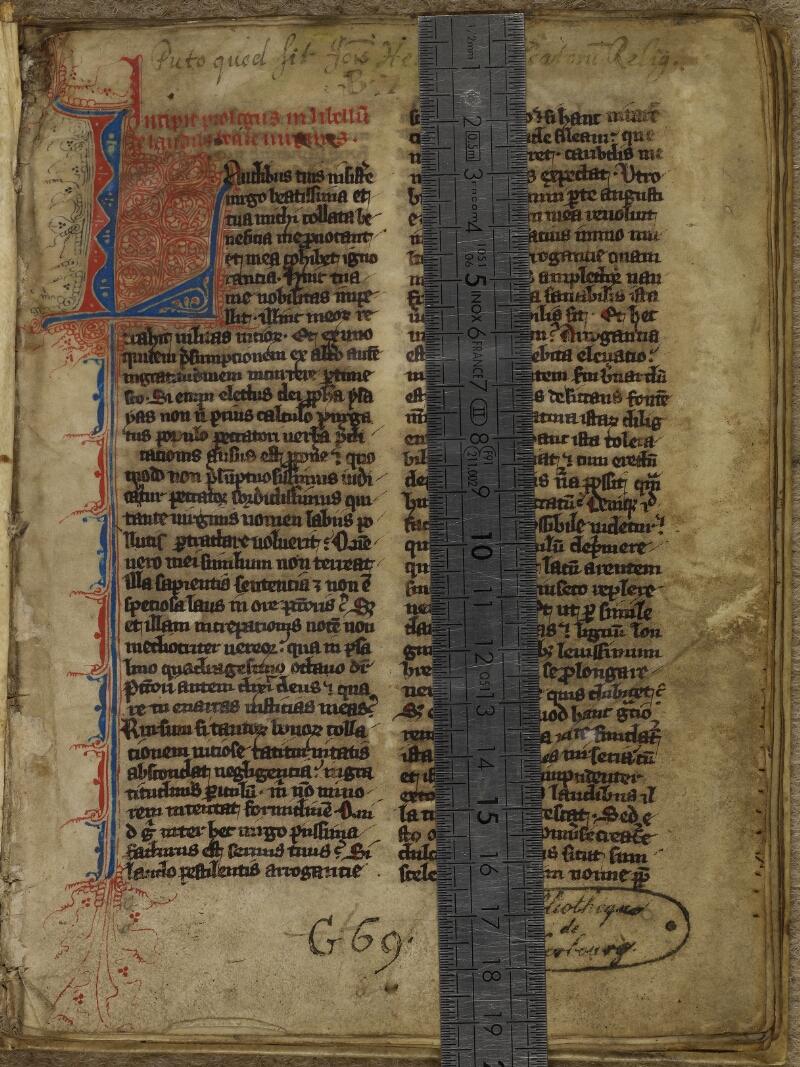 Cherbourg, Bibl. mun., ms. 0014, f. 002 - vue 1