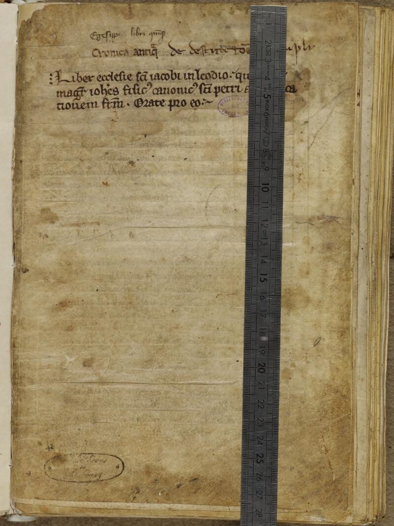 Cherbourg, Bibl. mun., ms. 0051, f. 001 - vue 1