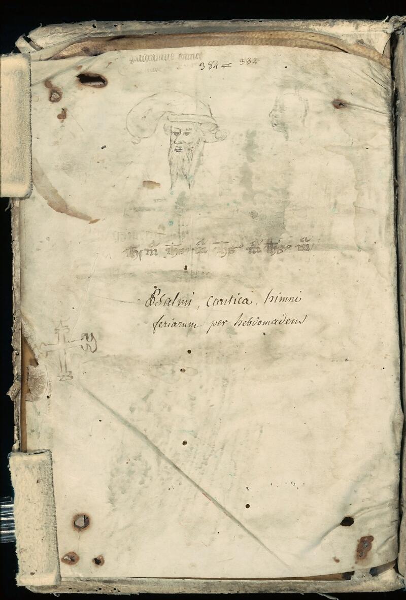 Evreux, Bibl. mun., ms. lat. 081, f. de garde v - vue 1
