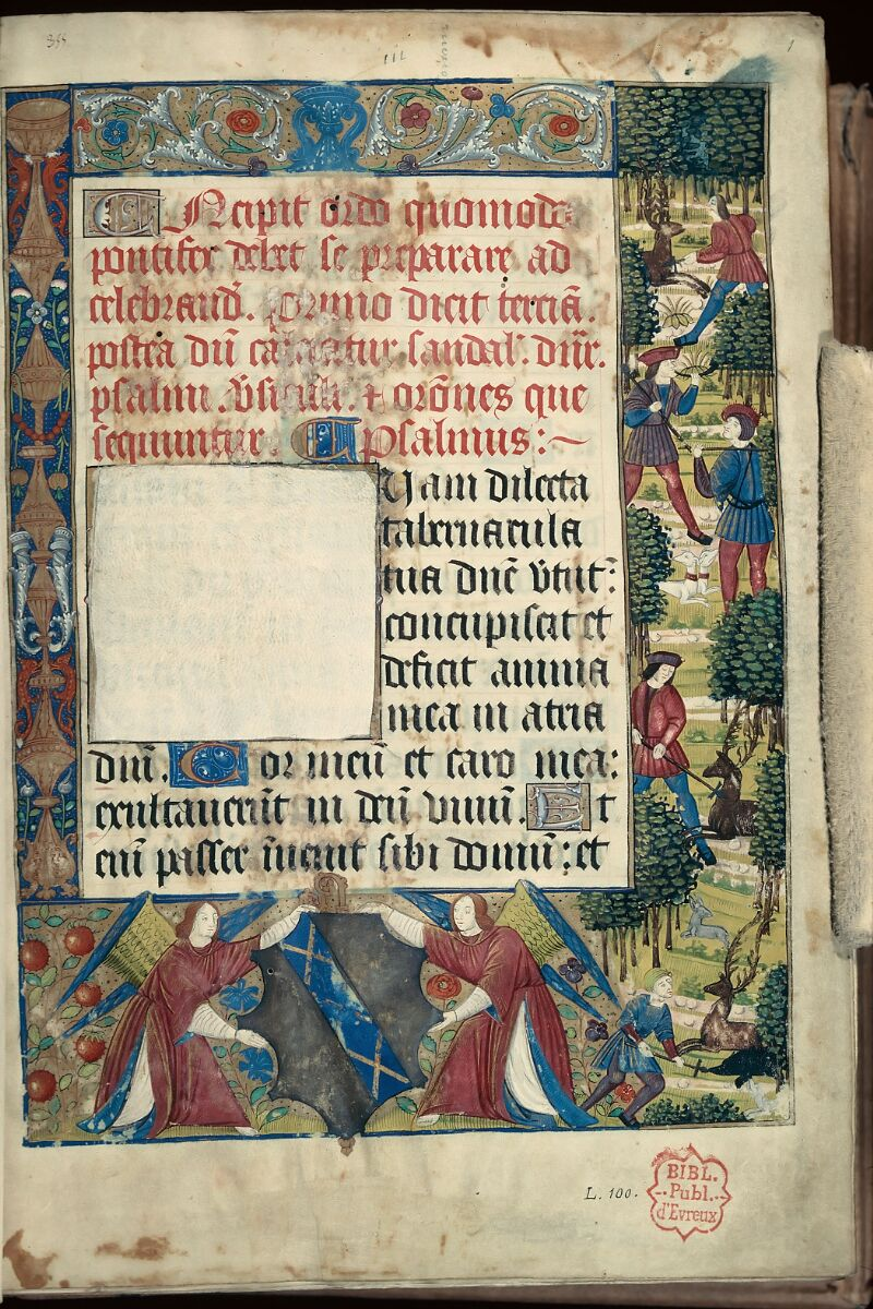 Evreux, Bibl. mun., ms. lat. 100, f. 001 - vue 1