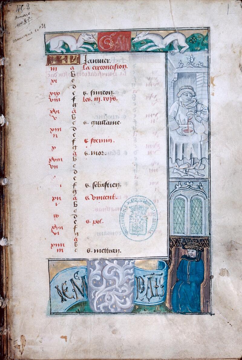 Abbeville, Bibl. mun., ms. 0016, f. 001 - vue 1