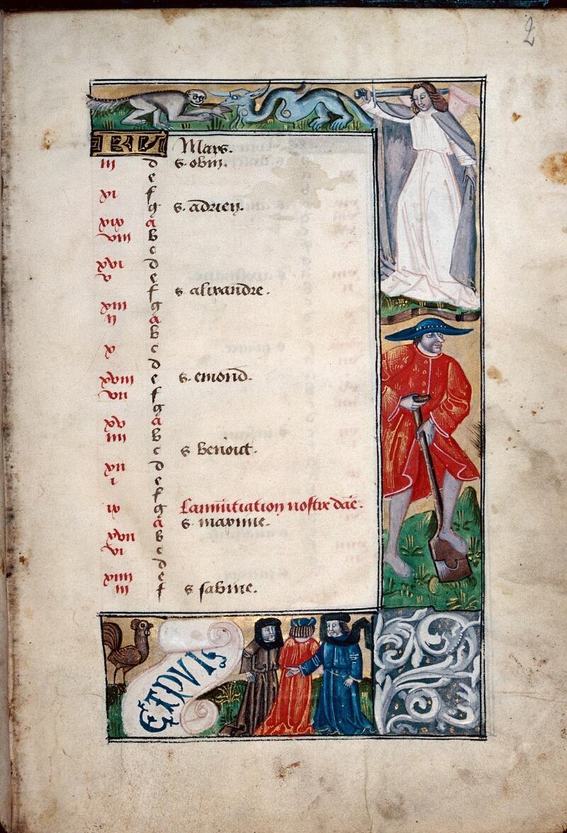 Abbeville, Bibl. mun., ms. 0016, f. 002 - vue 1