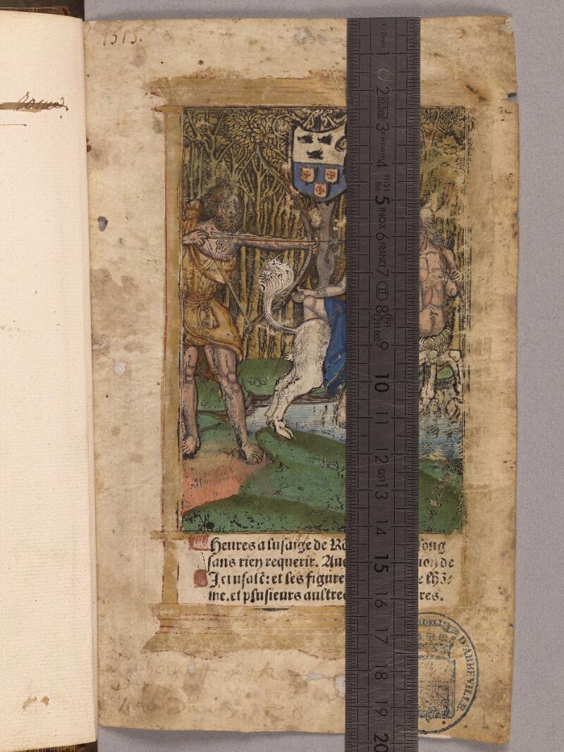 Abbeville, Bibl. mun., impr. FA 16 in 8° 280, f. 001 - vue 1