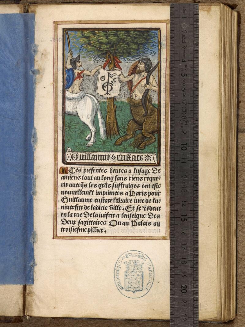 Abbeville, Bibl. mun., impr. FA 16 in 8° 281, f. 001 - vue 1