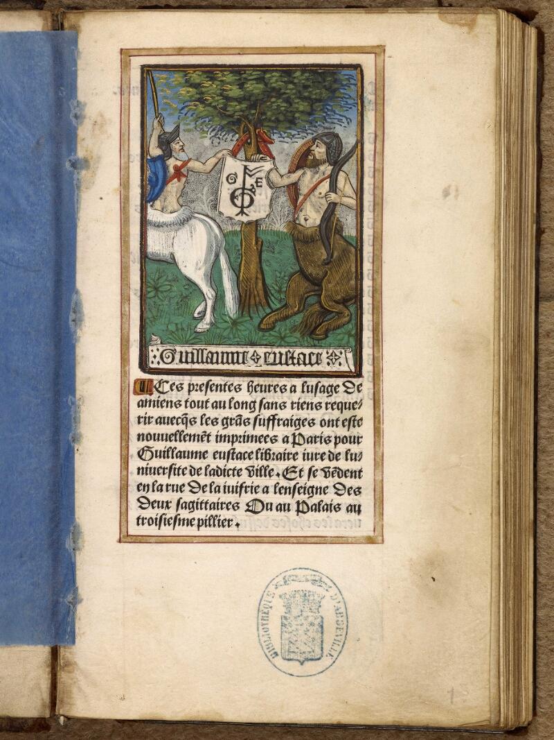 Abbeville, Bibl. mun., impr. FA 16 in 8° 281, f. 001 - vue 2