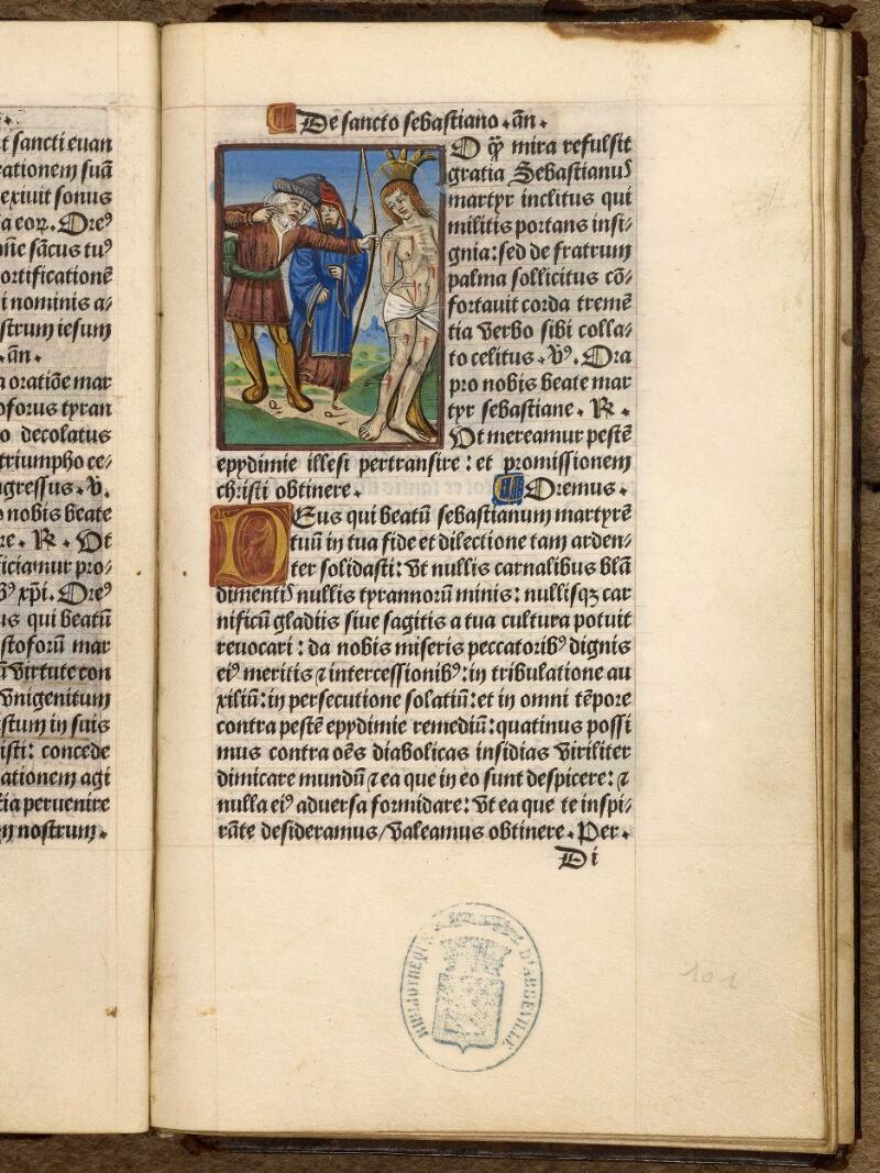 Abbeville, Bibl. mun., impr. FA 16 in 8° 281, f. 101 - vue 1