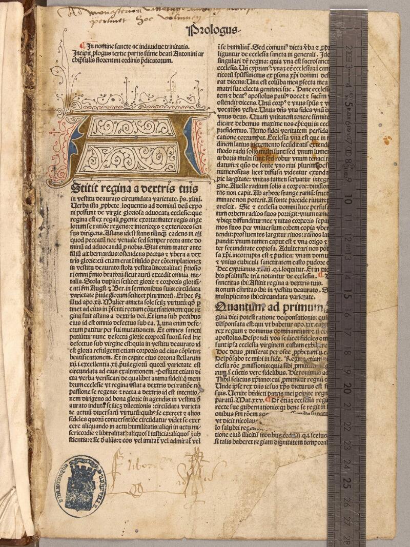 Abbeville, Bibl. mun., inc. 005, f. 001 - vue 1