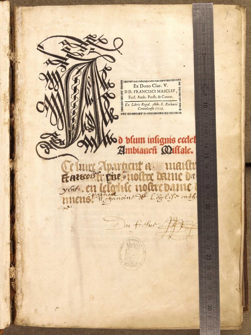 Abbeville, Bibl. mun., inc. 046, A f. 000A - vue 1