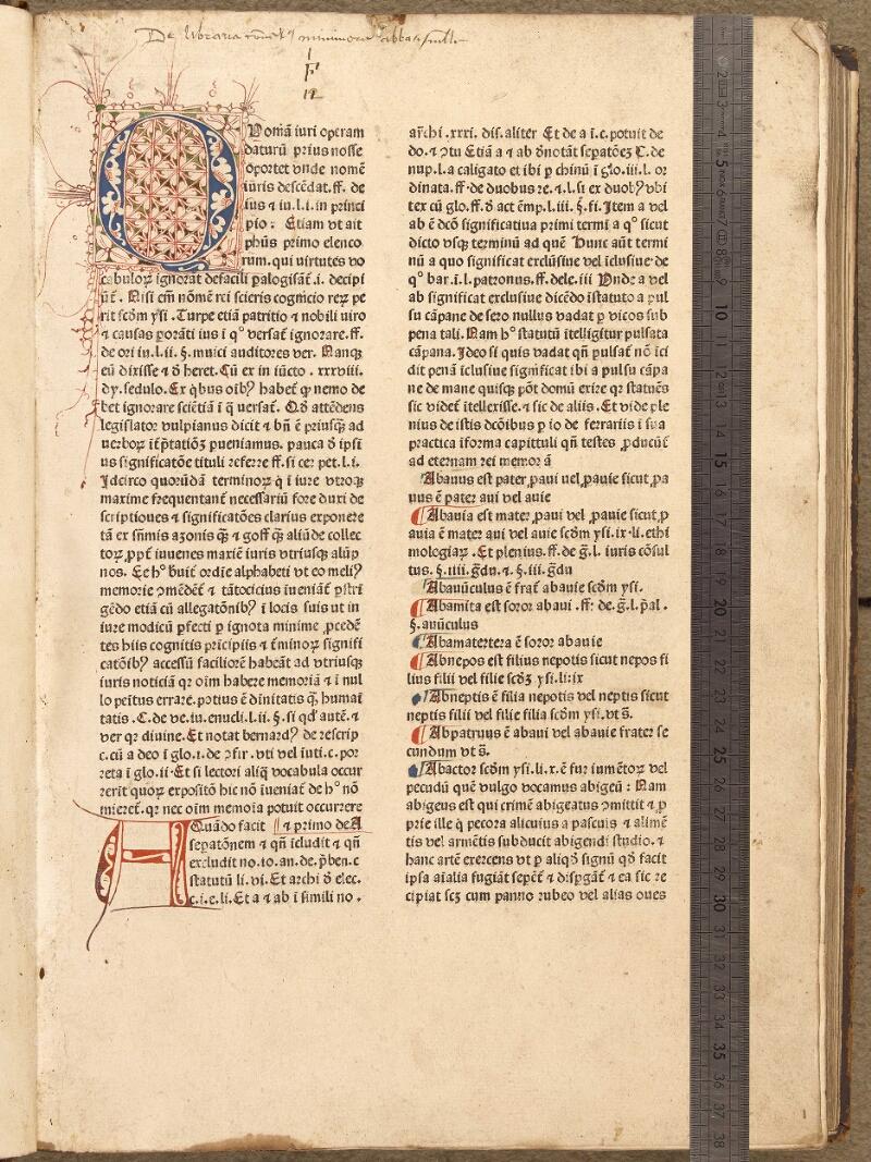 Abbeville, Bibl. mun., inc. 052, f. 002 - vue 1