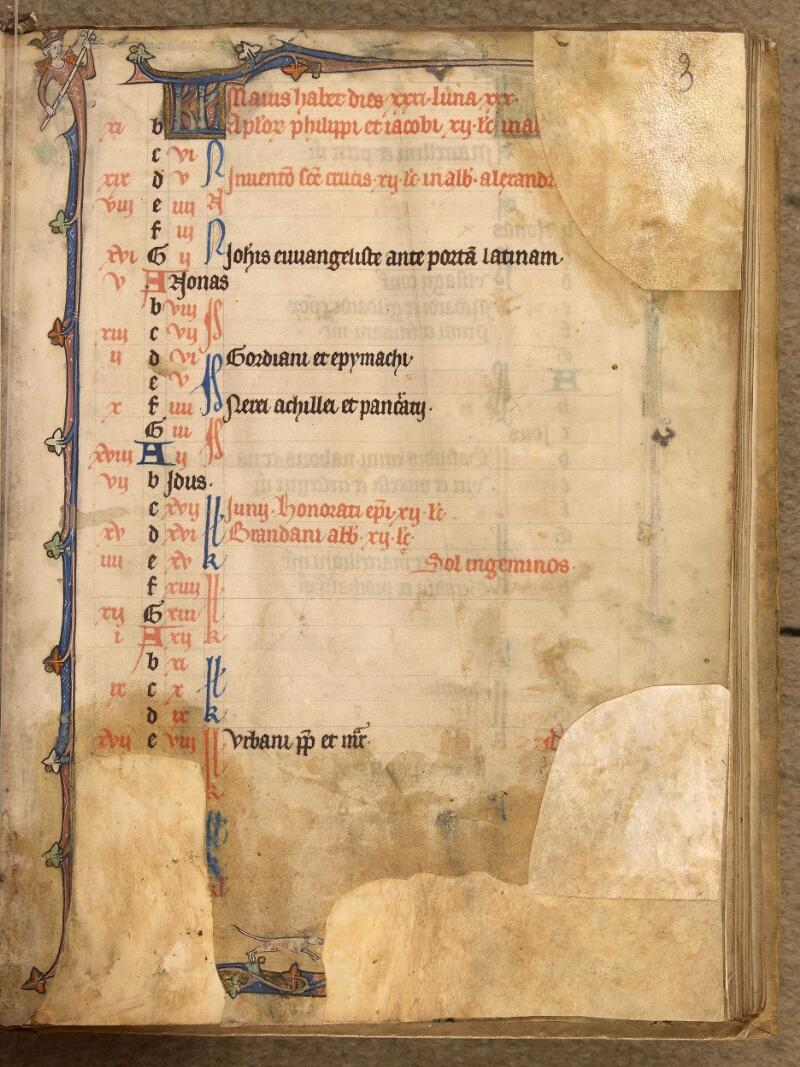 Abbeville, Bibl. mun., ms. 0003, f. 003 - vue 1