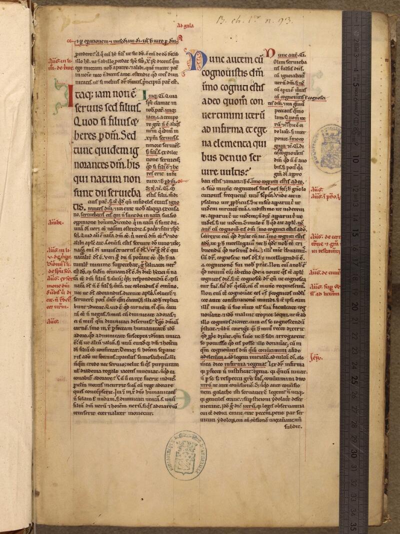Abbeville, Bibl. mun., ms. 0005, f. 001 - vue 1