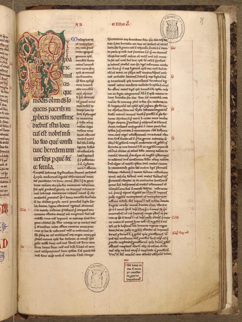 Abbeville, Bibl. mun., ms. 0005, f. 075 - vue 1