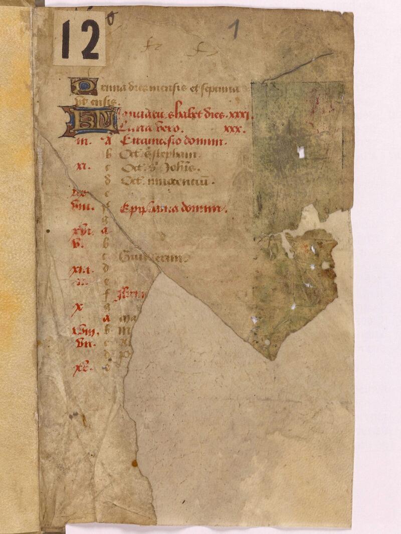 Abbeville, Bibl. mun., ms. 0012, f. 001 - vue 1