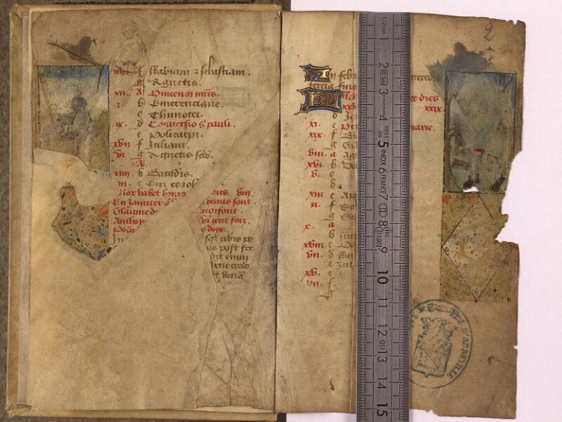 Abbeville, Bibl. mun., ms. 0012, f. 001v-002 - vue 1