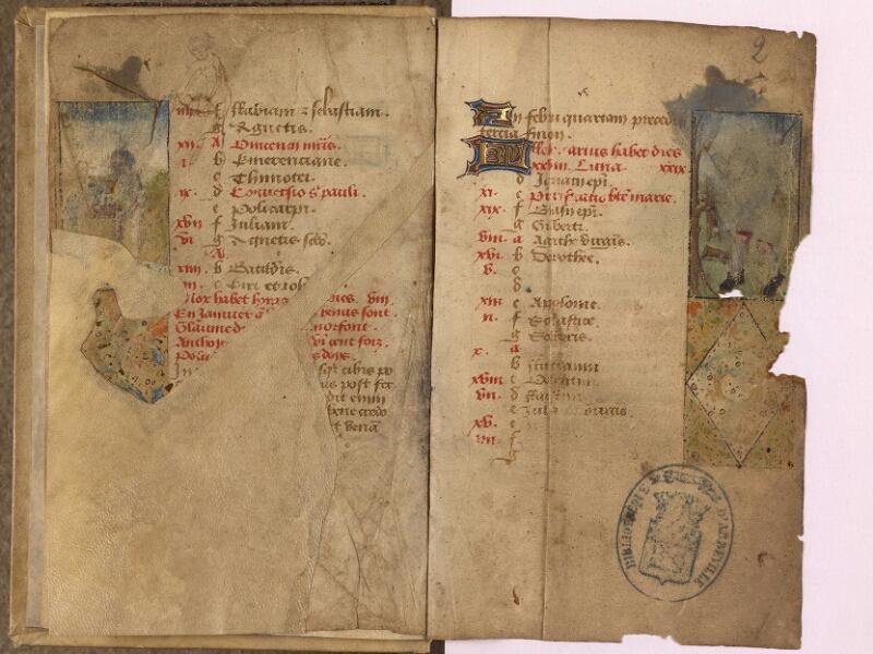 Abbeville, Bibl. mun., ms. 0012, f. 001v-002 - vue 2