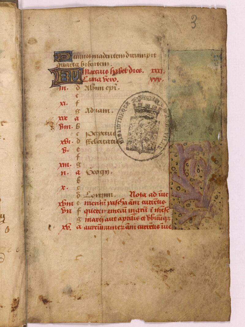 Abbeville, Bibl. mun., ms. 0012, f. 003 - vue 1