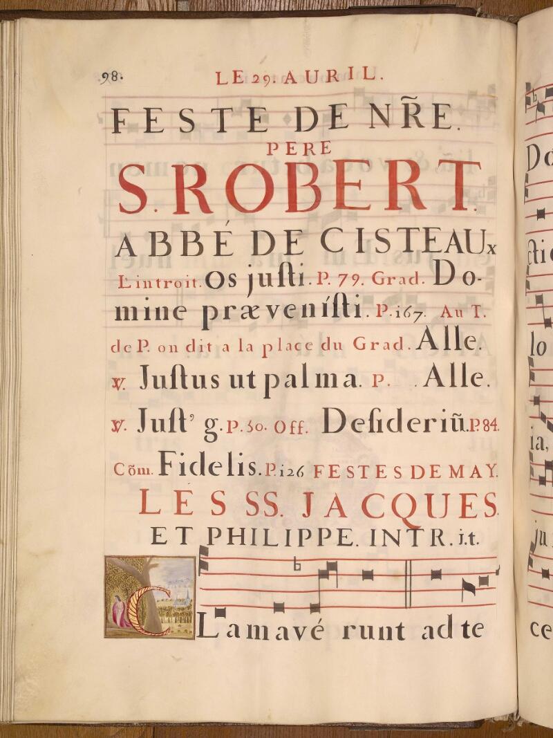 Abbeville, Bibl. mun., ms. 0021, p. 098 - vue 1