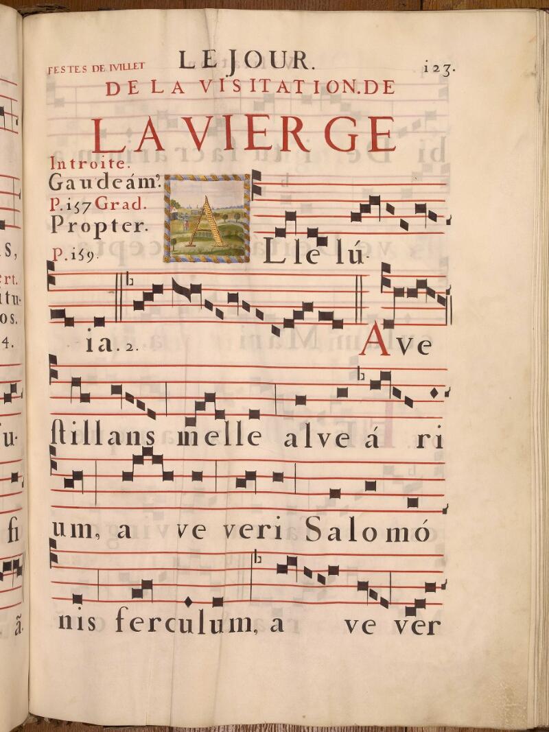Abbeville, Bibl. mun., ms. 0021, p. 123 - vue 1