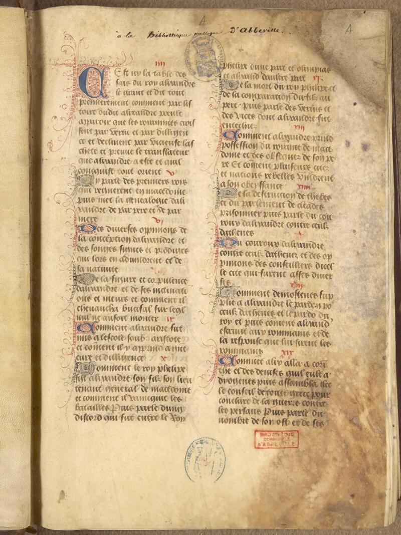 Abbeville, Bibl. mun., ms. 0092, f. 000A - vue 2