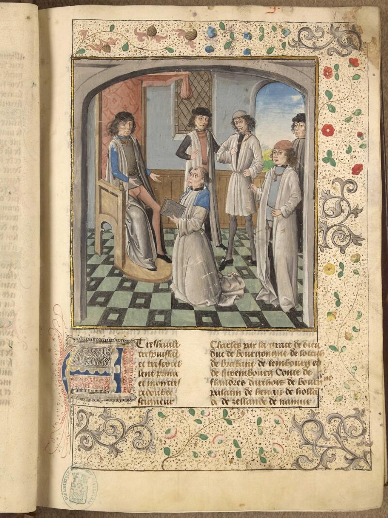 Abbeville, Bibl. mun., ms. 0092, f. 001 - vue 1