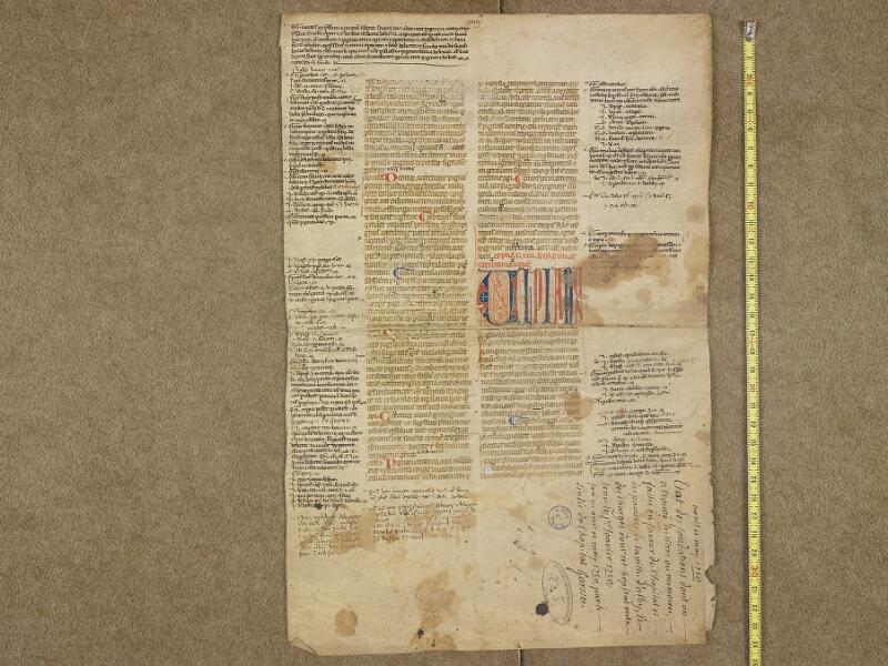 ALBI, Archives départementales du Tarn, J(023) 082, document 1 vue 1 avec réglet