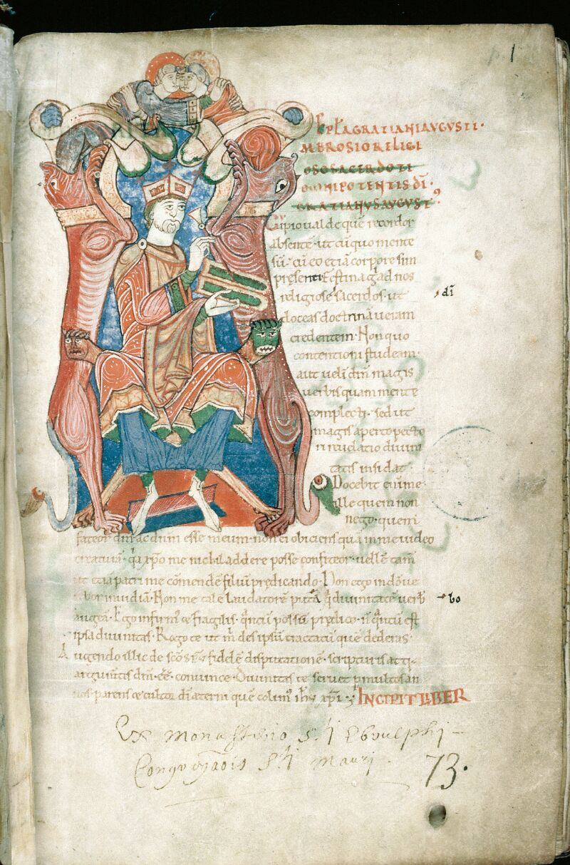 Alençon, Bibl. mun., ms. 0011, f. 001 - vue 2