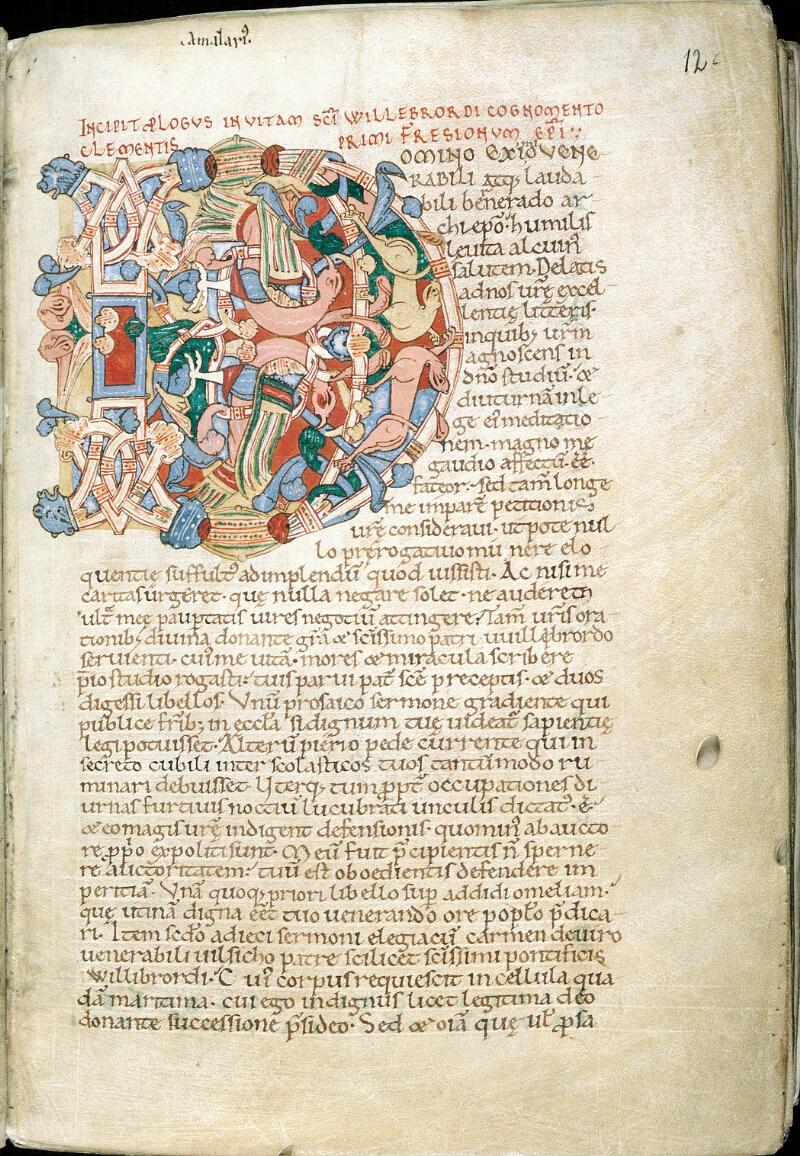 Alençon, Bibl. mun., ms. 0014, f. 012 - vue 2