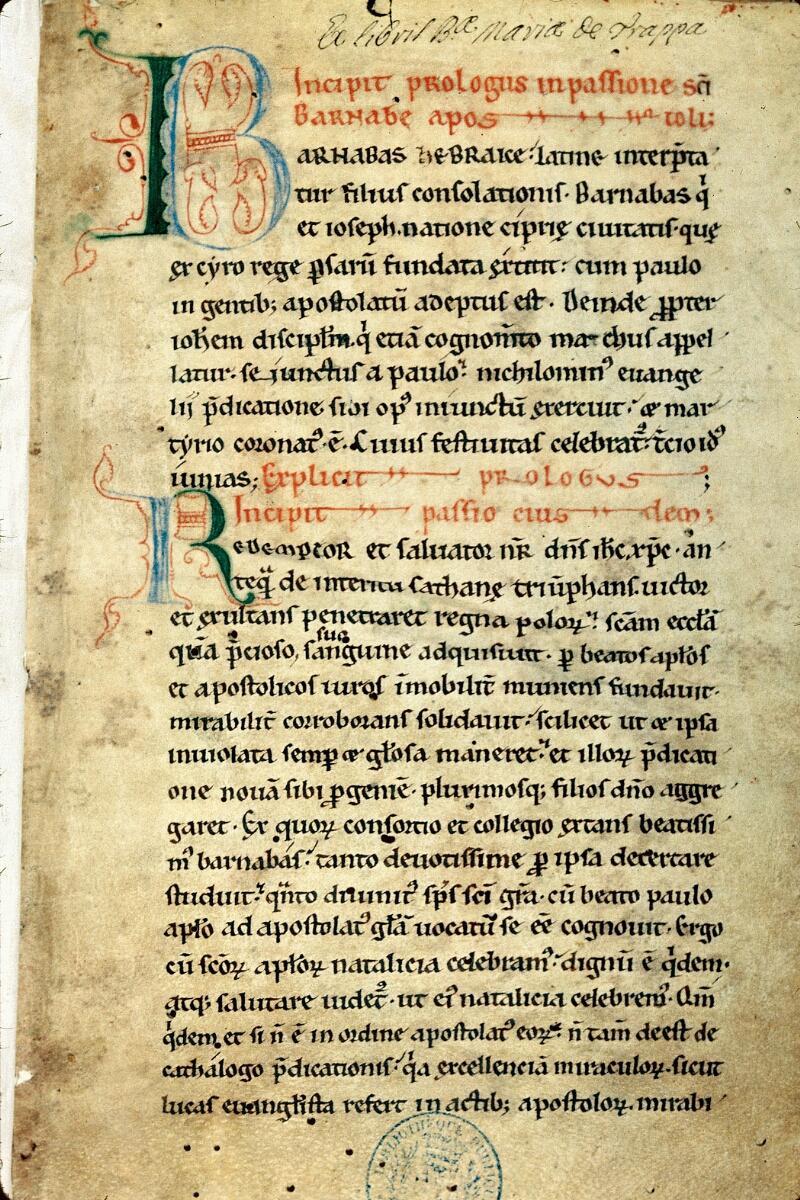 Alençon, Bibl. mun., ms. 0021, f. 001