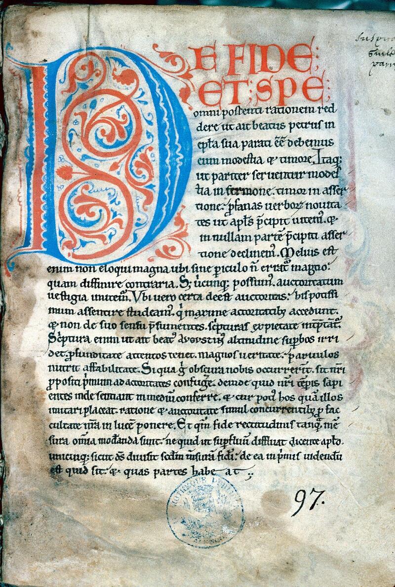 Alençon, Bibl. mun., ms. 0024, f. 001
