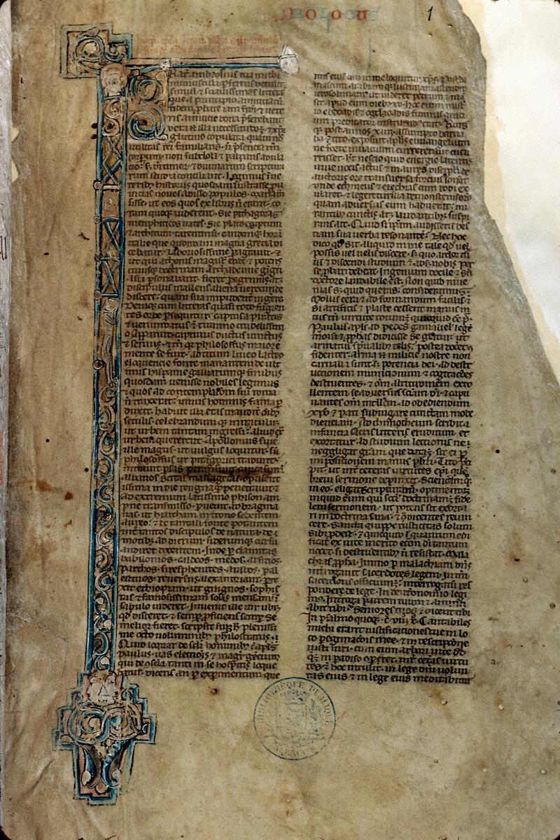 Alençon, Bibl. mun., ms. 0056, f. 001