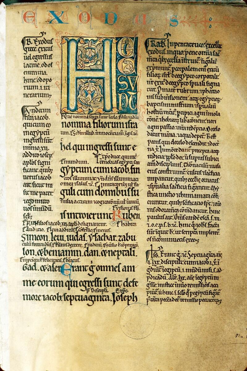 Alençon, Bibl. mun., ms. 0061, f. 001 - vue 1
