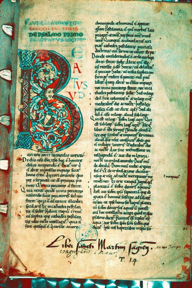 Alençon, Bibl. mun., ms. 0071, f. 001 - vue 1