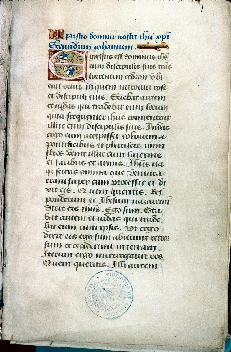 Alençon, Bibl. mun., ms. 0092, f. 001