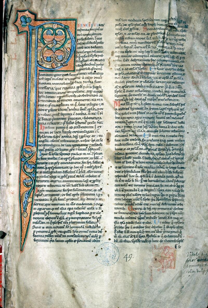Alençon, Bibl. mun., ms. 0096, f. 001 - vue 1