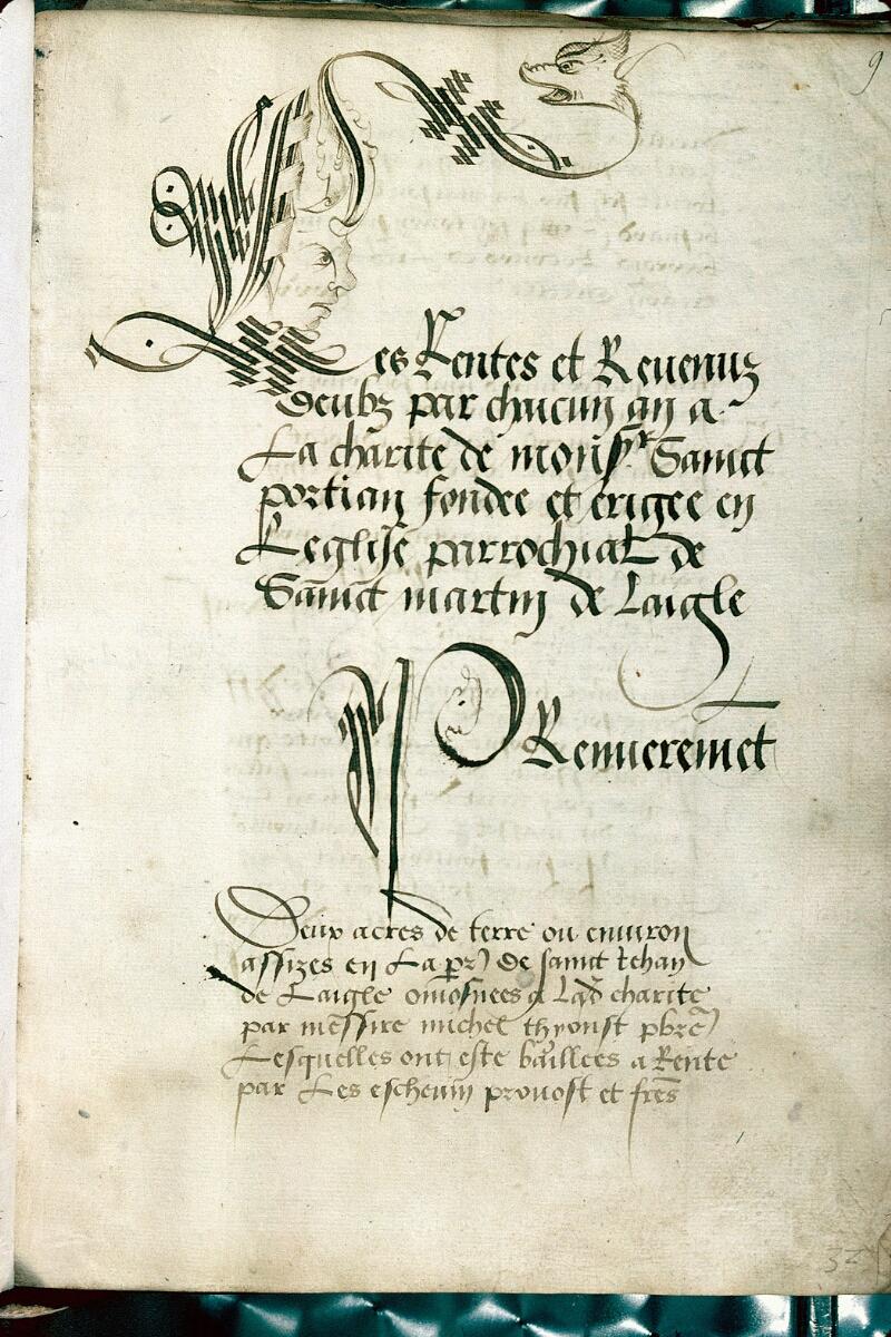 Alençon, Bibl. mun., ms. 0119, f. 009