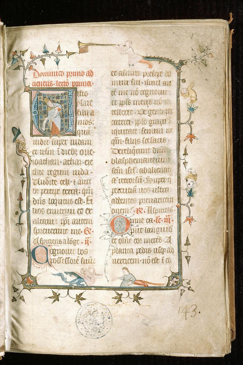 Alençon, Bibl. mun., ms. 0128, f. 001 - vue 2
