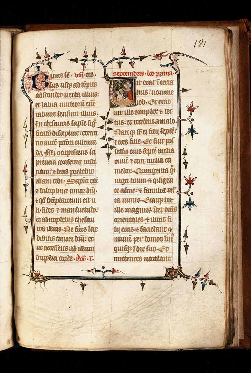 Alençon, Bibl. mun., ms. 0128, f. 181 - vue 1