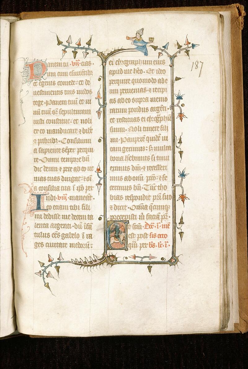 Alençon, Bibl. mun., ms. 0128, f. 187 - vue 1