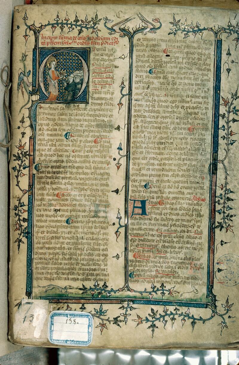 Alençon, Bibl. mun., ms. 0138, f. 001 - vue 1