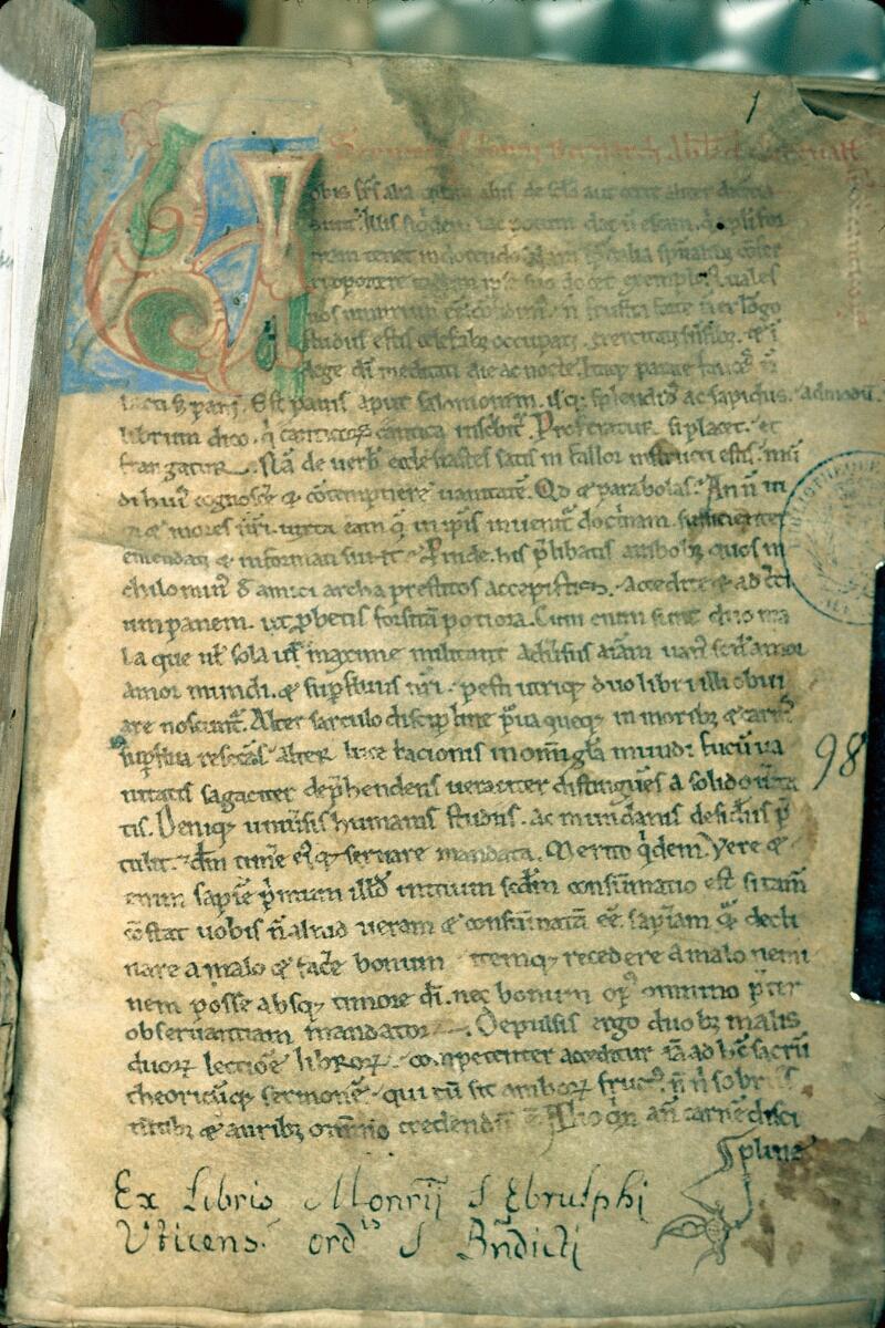 Alençon, Bibl. mun., ms. 0151, f. 001